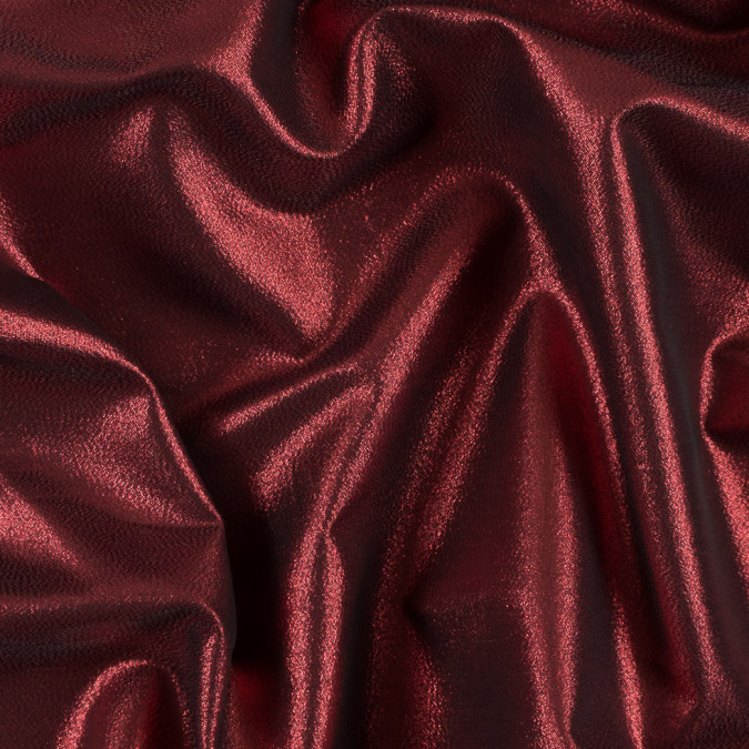 red black metallic polyester lame 311057 11