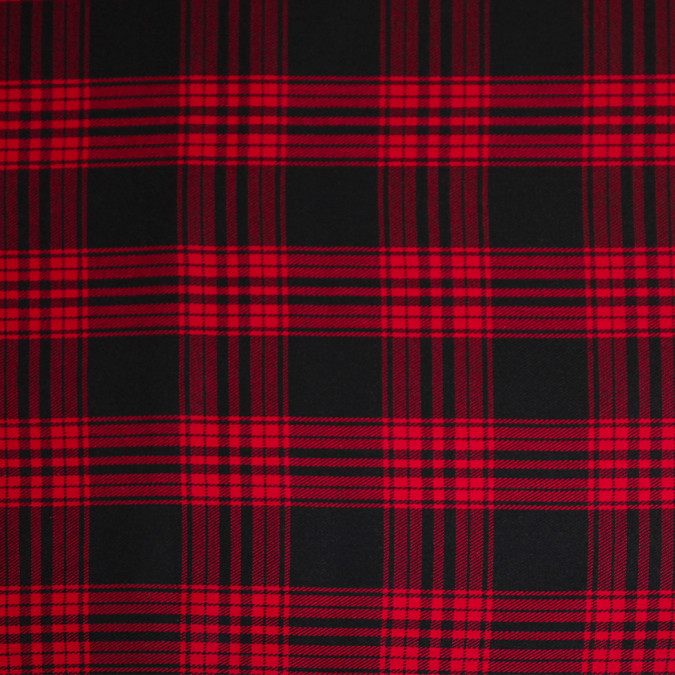 red black tartan plaid cotton flannel 308614 11