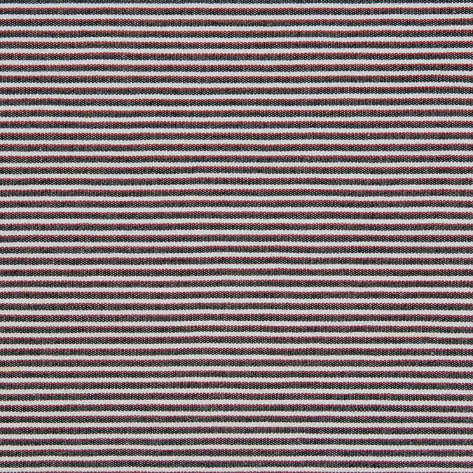red black white raised shadow stripes on stretch cotton woven 310579 11