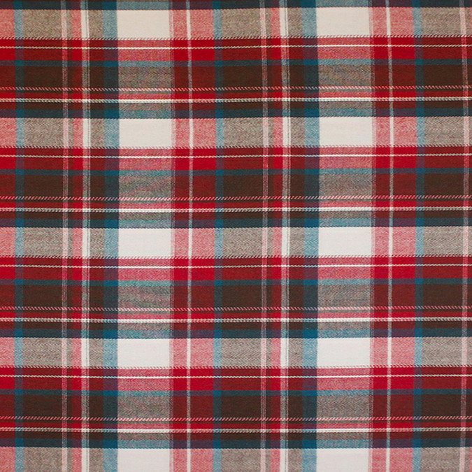 red blue brown white plaid cotton flannel 308634 11