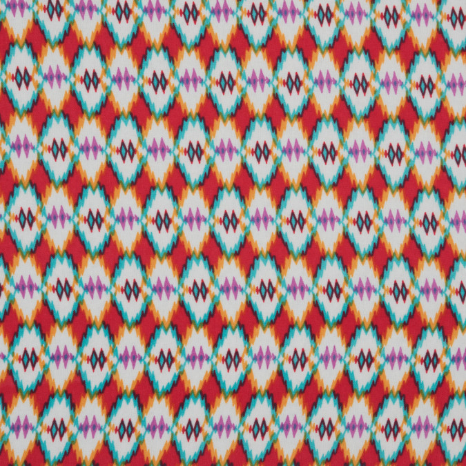 red blue orange navajo tribal printed polyester woven 309893 11
