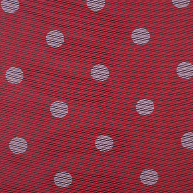 red light pink polka dot polyester mesh 308931 11