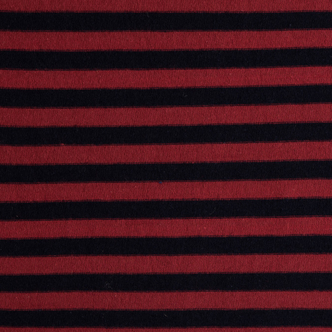 red navy striped cotton jersey knit 309408 11