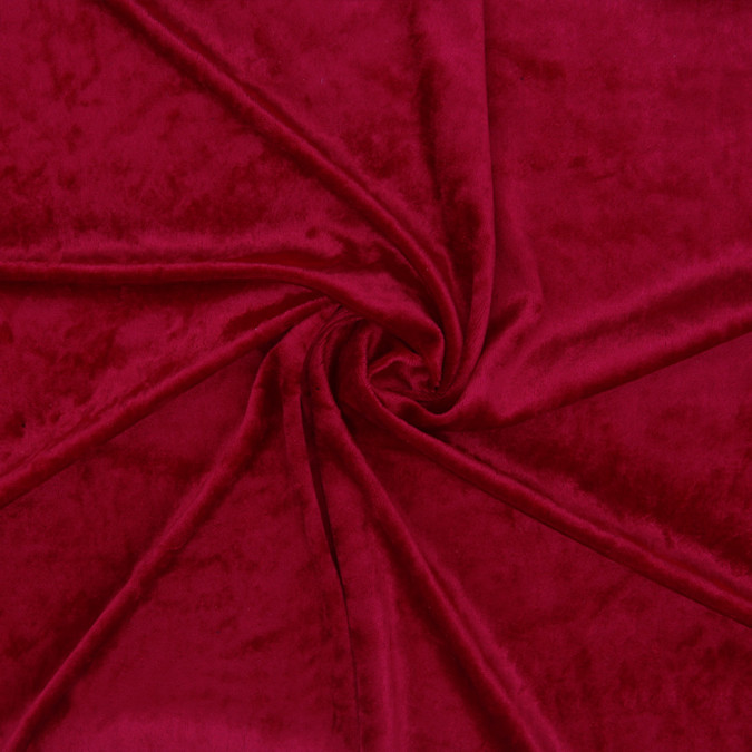 red polyester velour 307044 11