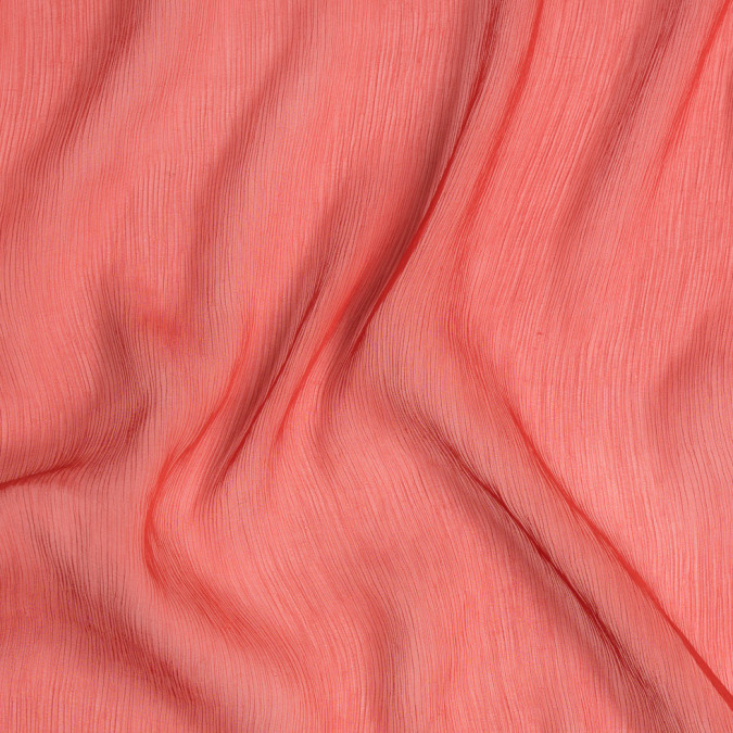 red stretch crinkled silk chiffon fs23686 11