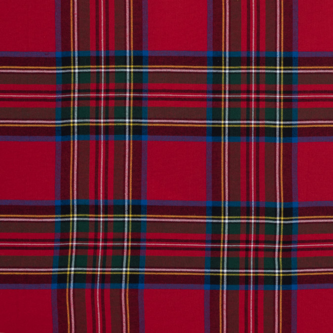 rich red solstice plaid cotton flannel 316002 11