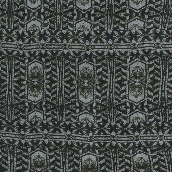 rifle green tribal printed silk chiffon 315814 11