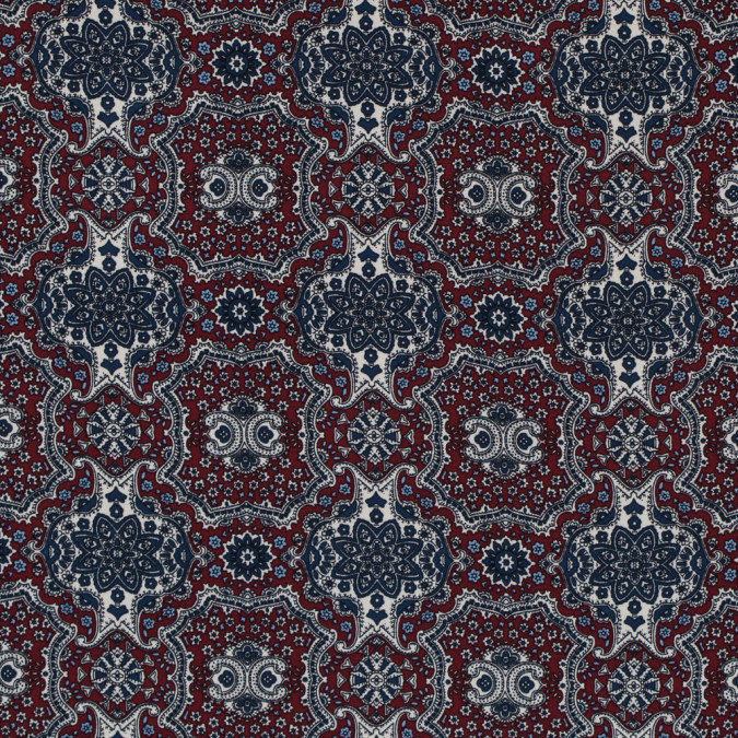 rio red and ensign blue mandala floral polyester print 313458 11