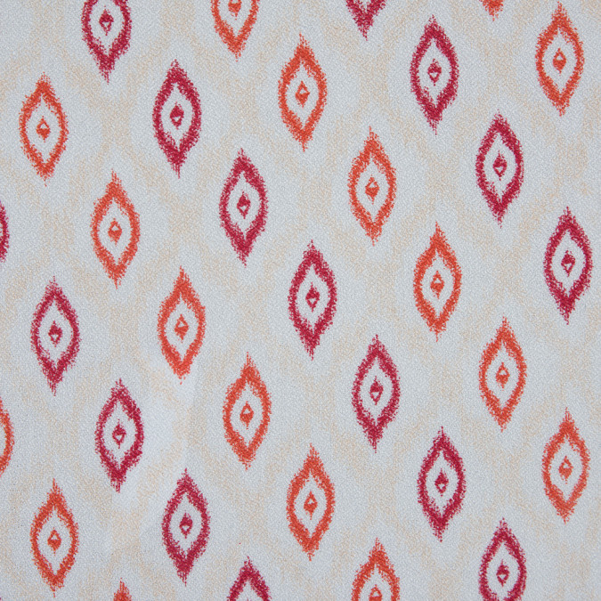 rococco red nasturtium ivory ikat printed viscose crepe 310750 11