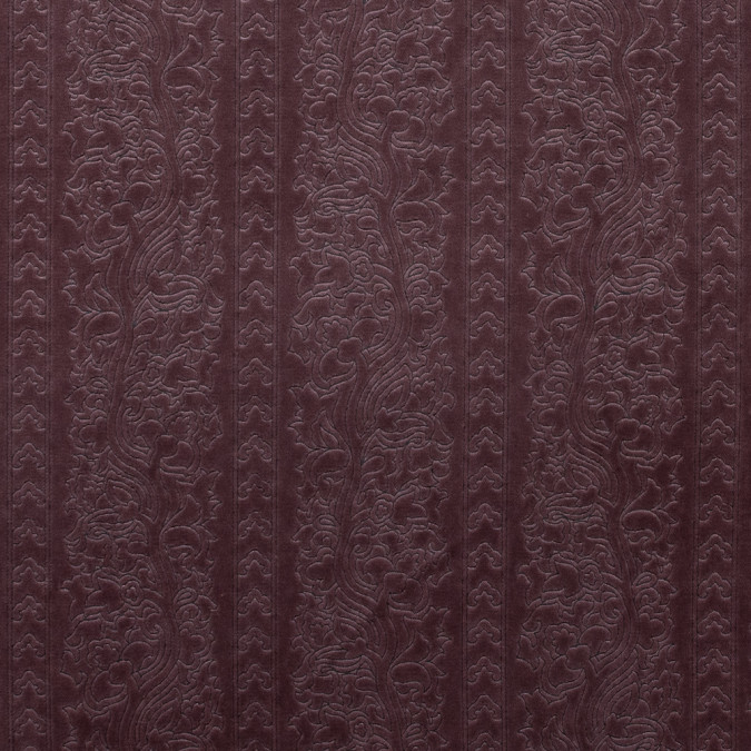rose brown floral foil embossed cotton velveteen 315232 11