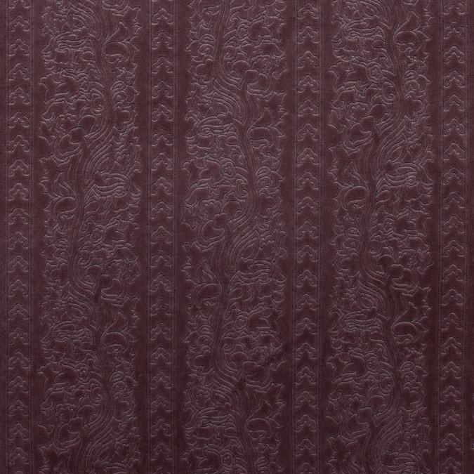 rose brown floral foil embossed cotton velveteen 315232 11