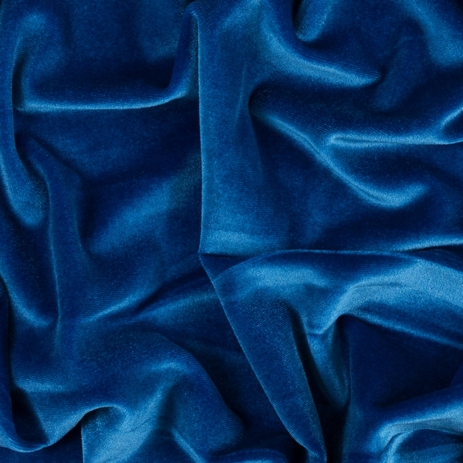 royal blue stretch velour 311381 11