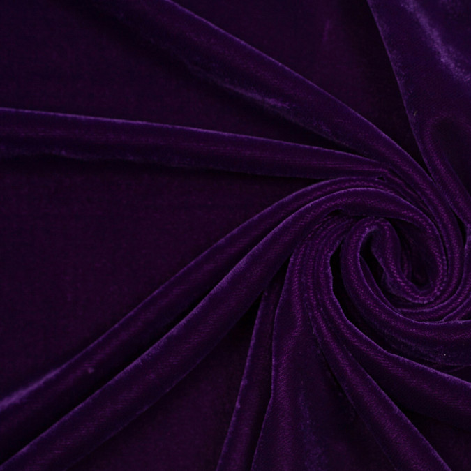 royal purple solid polyester micro velvet 307167 11