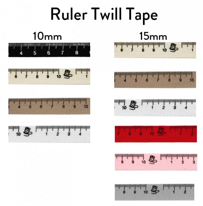 ruler twill tape chart