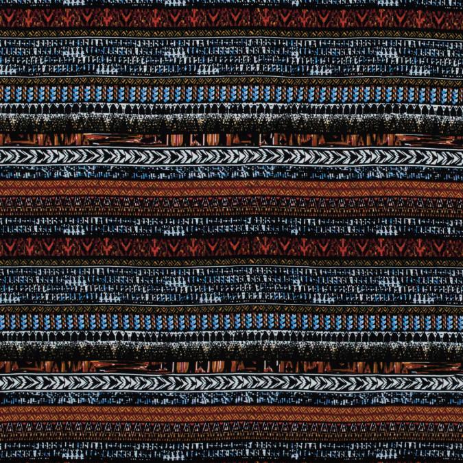 rust and blue tribal printed rayon challis 316026 11