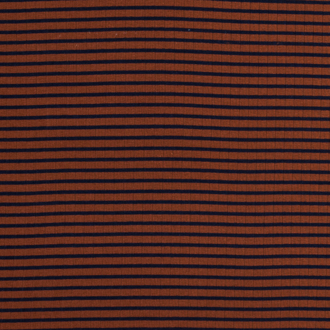 rust and navy striped 9 x 1 rib knit 318134 11