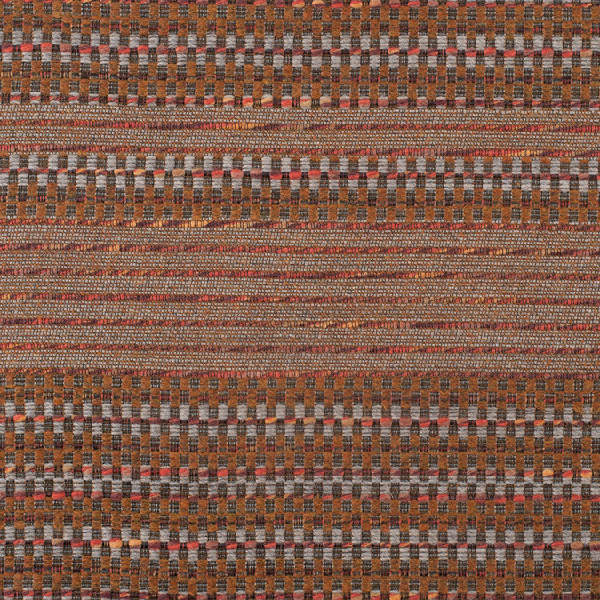 rust dimensional stripes blended wool tweed 307921 11