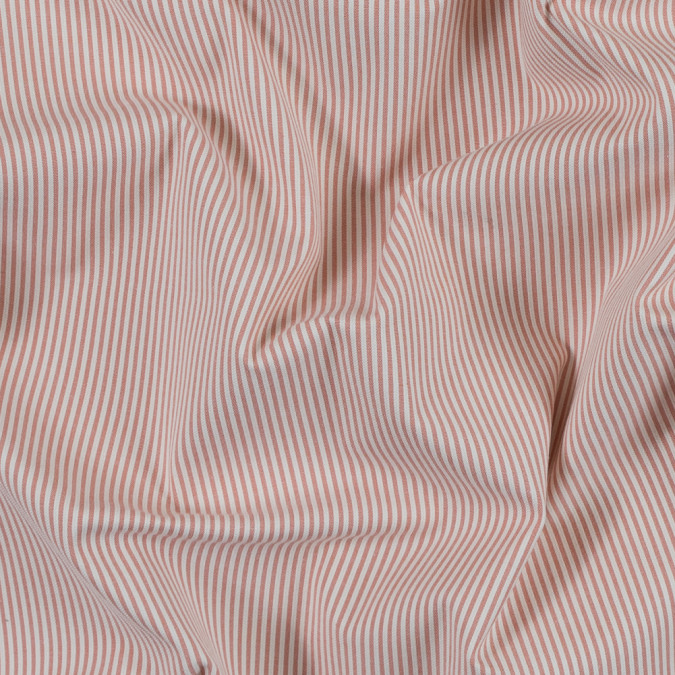 salmon and white candy striped stretch cotton woven 314156 11