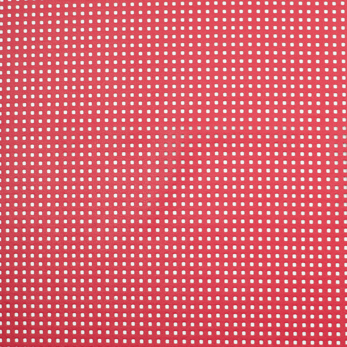 scarlet red solid vinyl with perforated squares 306002 11