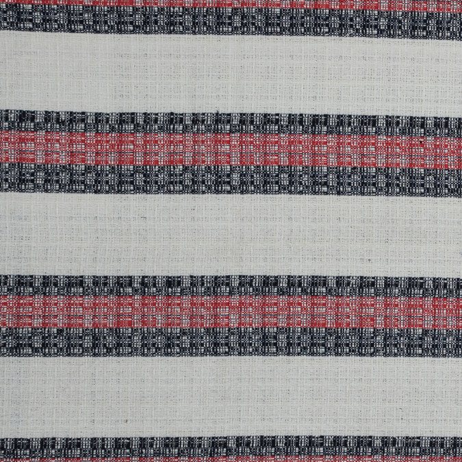 sea ny italian red white and blue striped tweed 318003 11