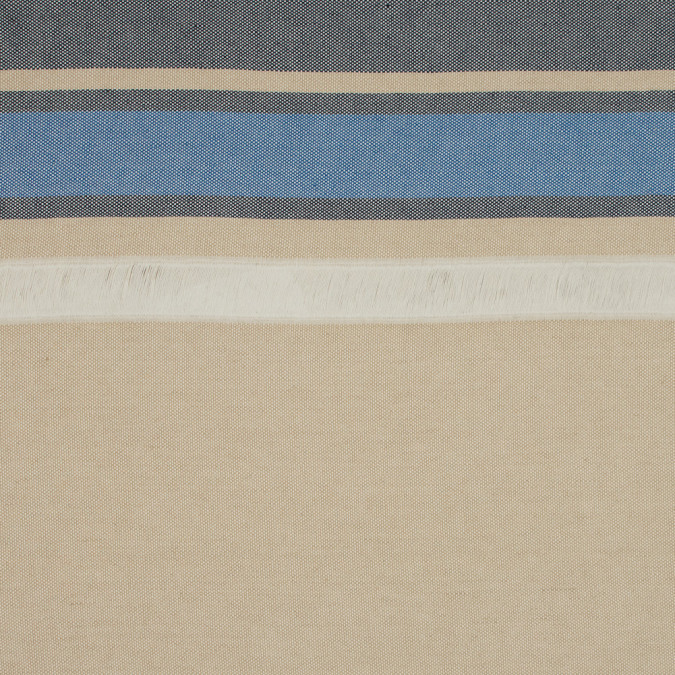 sea ny navy and gilded beige striped cotton canvas 317991 11