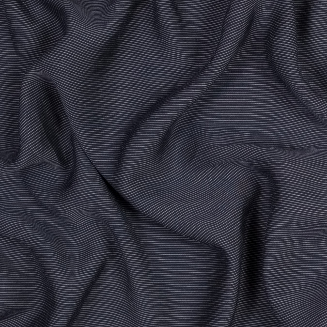 sea ny navy and ivory pinstriped silk and cotton voile 318010 11