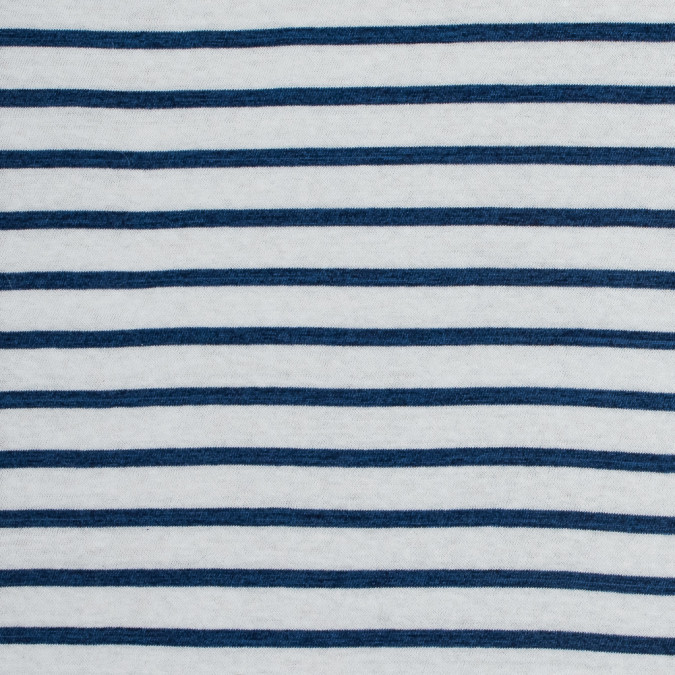 sea ny navy peony and white pencil striped cotton knit 318005 11