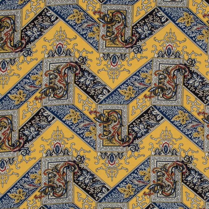 sea ny yellow and blue paisley printed rayon woven 317999 11