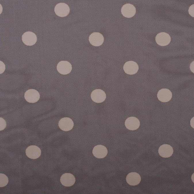 seal brown sahara polka dot polyester mesh 308204 11