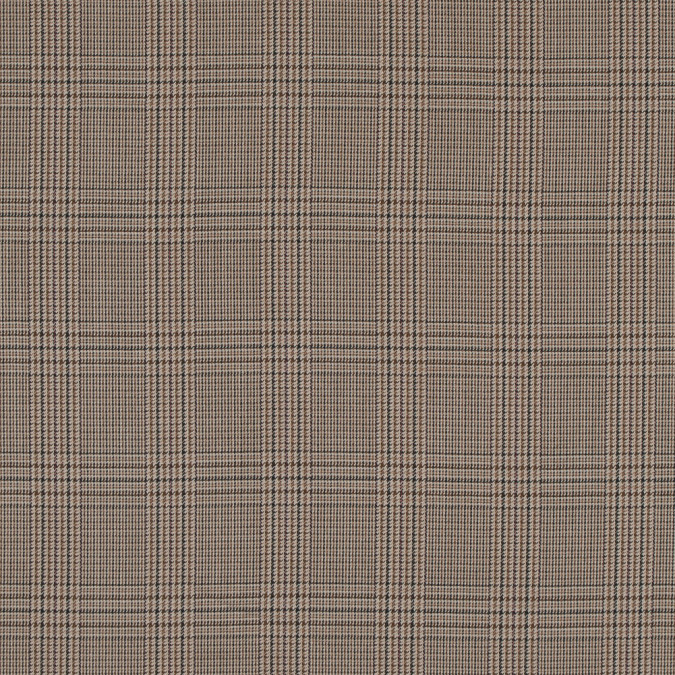 sesame glen plaid polyester suiting 313654 11