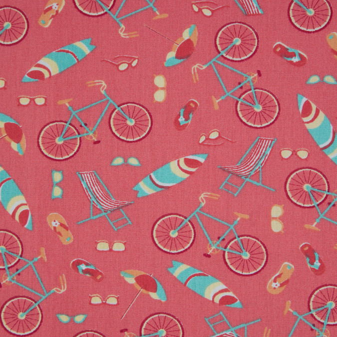 shell pink blue curacao miami themed printed cotton poplin 310723 11