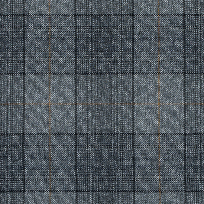 silver gold and black tartan plaid wool twill 314136 11