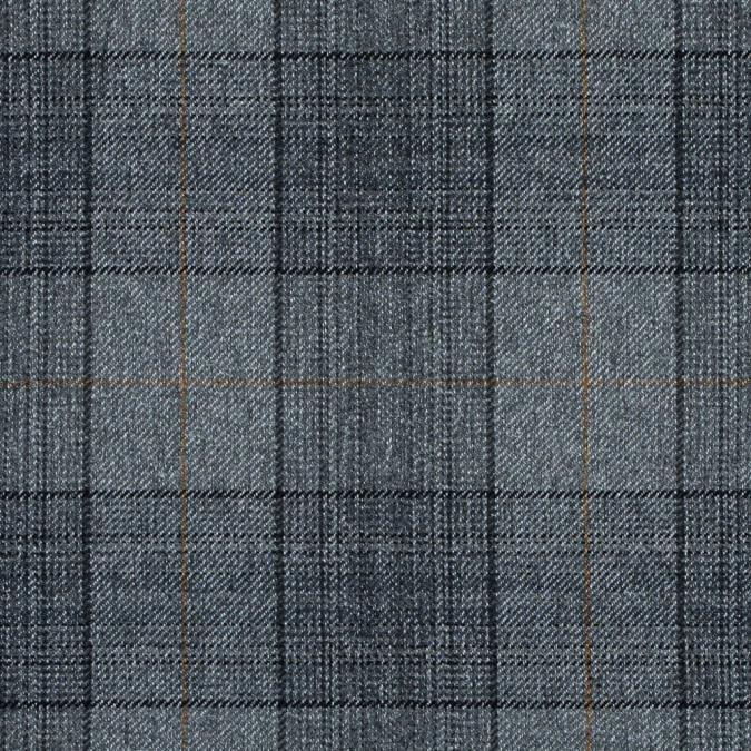 silver gold and black tartan plaid wool twill 314136 11