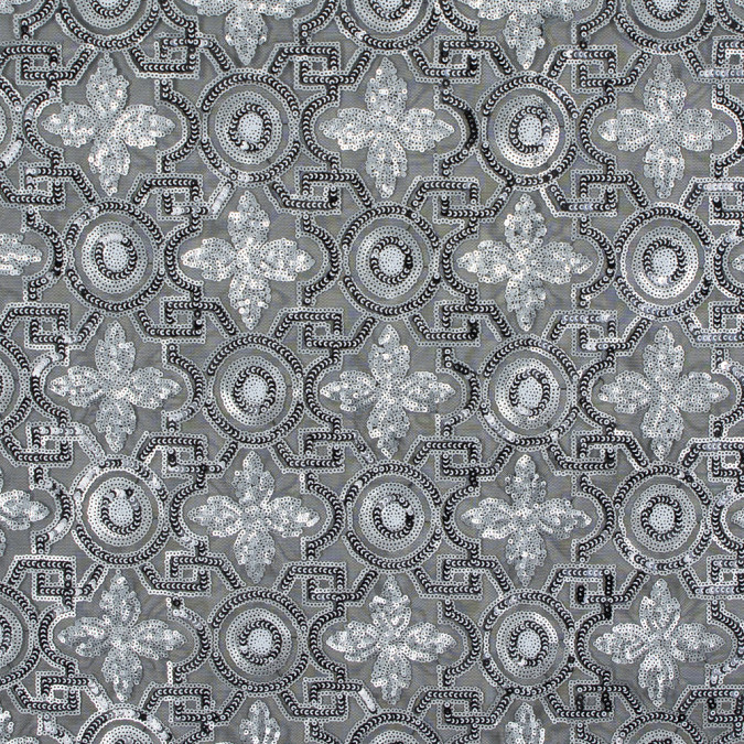 silver and black geometric sequined mesh 316495 11