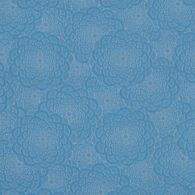 sky blue floral polyester brocade 318345 11