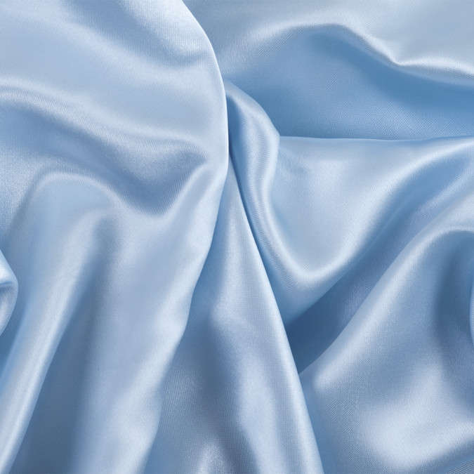 sky blue solid polyester satin 303329 11