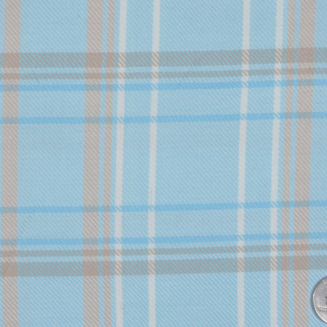sky blue warm beige off white plaid twill fc13145 11