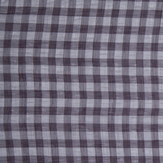 slate gray and black checked semi sheer poly shirting 303909 11