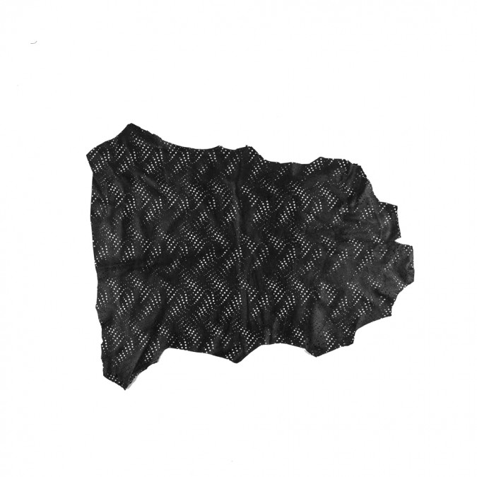 small black abstract perforated lamb leather 310301 11