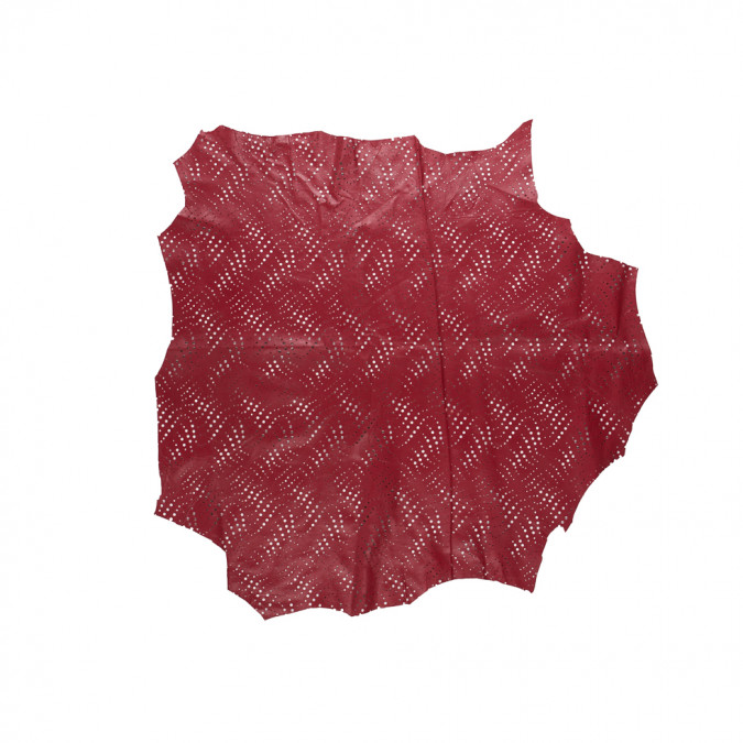 small brick red abstract perforated lamb leather 310303 11