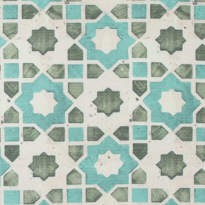 spa blue green geometric floral outdoor canvas 115762 11