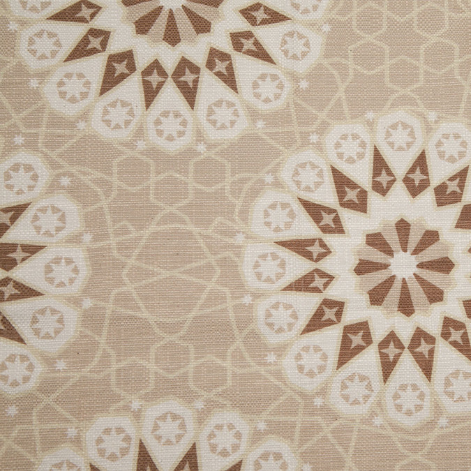 spanish beige brown geometric poly cotton canvas 108256 11