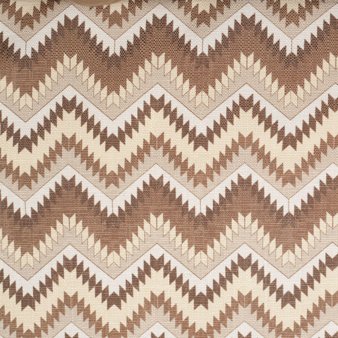 spanish beige brown geometric poly cotton canvas 108794 11