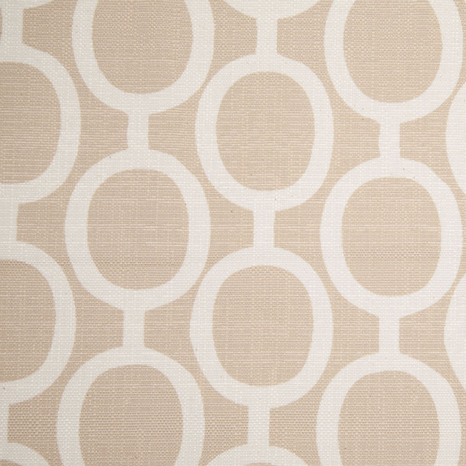 spanish beige white geometric poly cotton canvas 108308 11