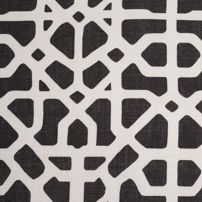 spanish black white geometric poly cotton canvas 108481 11