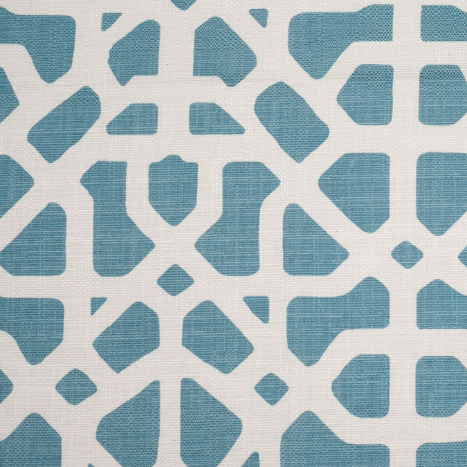 spanish blue white geometric poly cotton canvas 108479 11