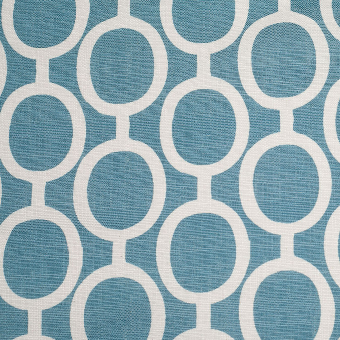 spanish blue white geometric poly cotton canvas 108490 11