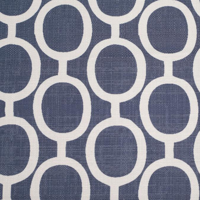 spanish denim white geometric poly cotton canvas 108477 11