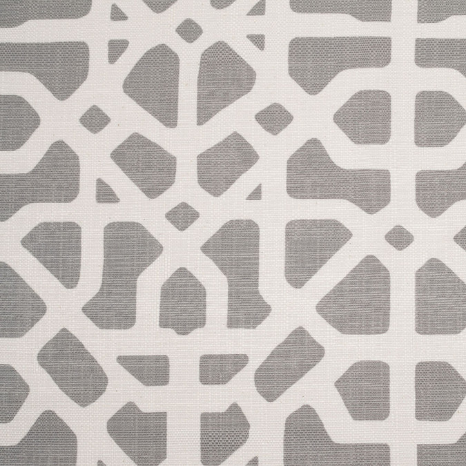 spanish gray white geometric poly cotton canvas 108482 11