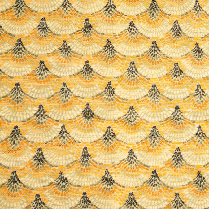 spanish green orange geometric poly cotton canvas 108312 11
